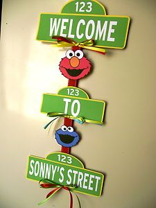 sesame street birthday door sign ; 79fb578efb9ff39c4c8d5cbb7dc112bb