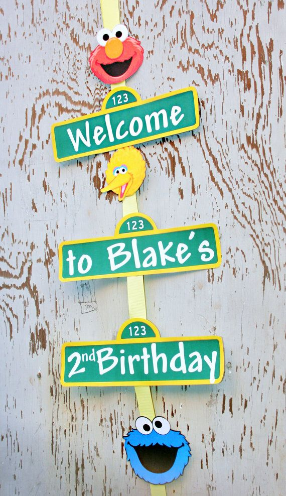 sesame street birthday door sign ; 8714e30a2c3a739551e444a240388abc--birthday-door-elmo-birthday
