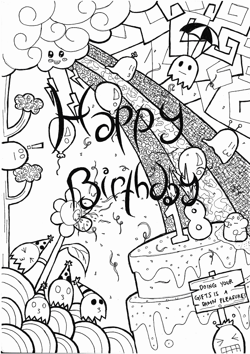 simple birthday party drawings ; birthday-card-drawings-unique-simple-hand-made-birthday-card-by-rosilutfi-on-deviantart-of-birthday-card-drawings