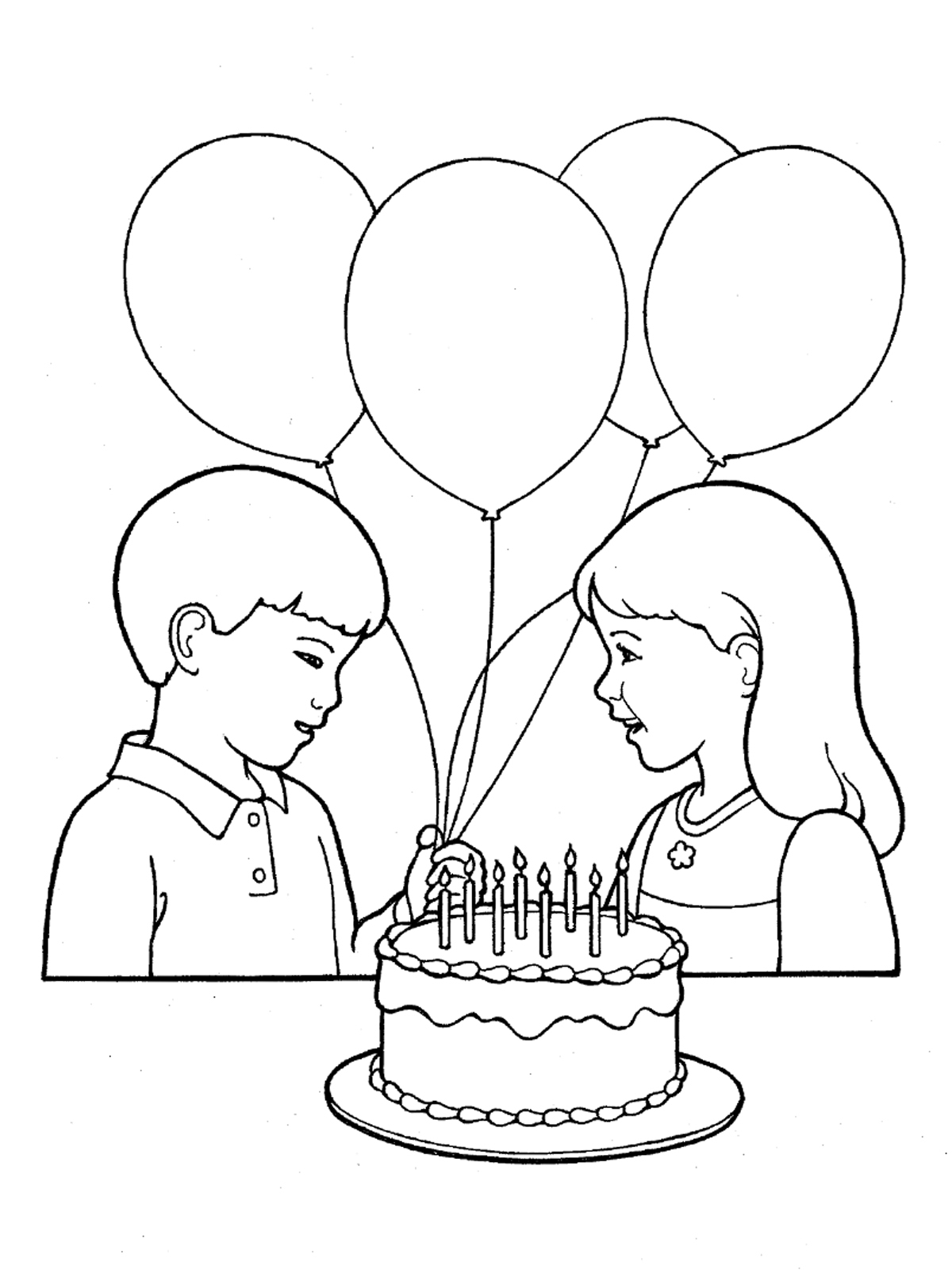 simple birthday party drawings ; drawing-pictures-of-birthday-party-primary-children-birthday