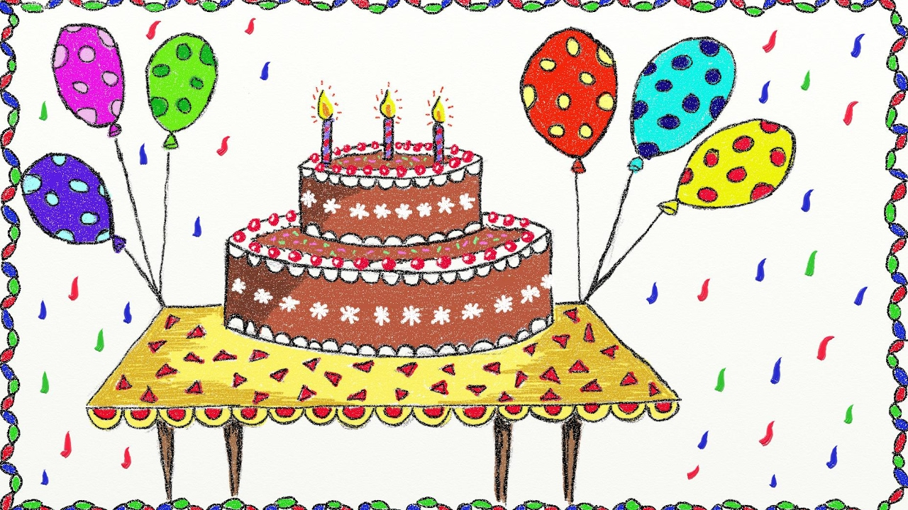 simple birthday party drawings ; maxresdefault