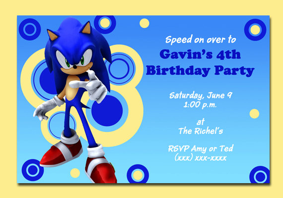 Sonic Birthday Invitation Templates Best Happy Birthday Wishes