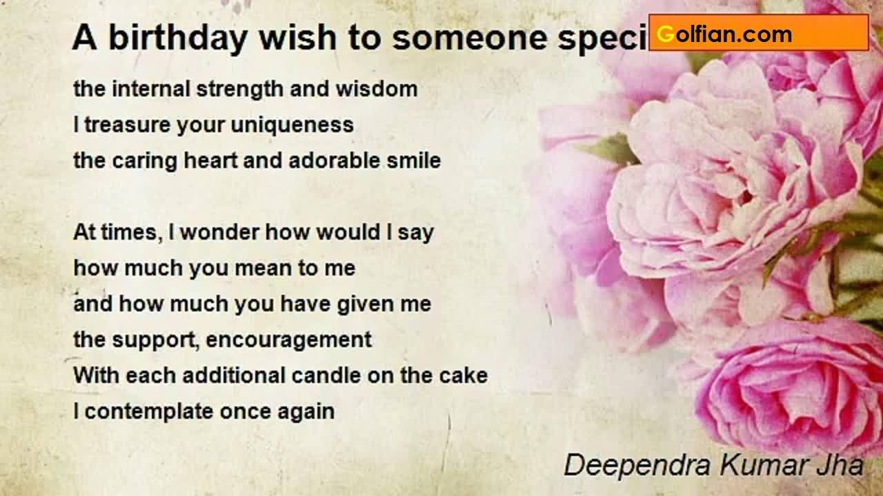 special happy birthday poems ; Awesome-Birthday-Poem-For-Someone-Special-E-Card