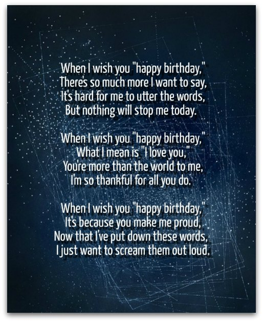 special happy birthday poems ; birthday-poems2A