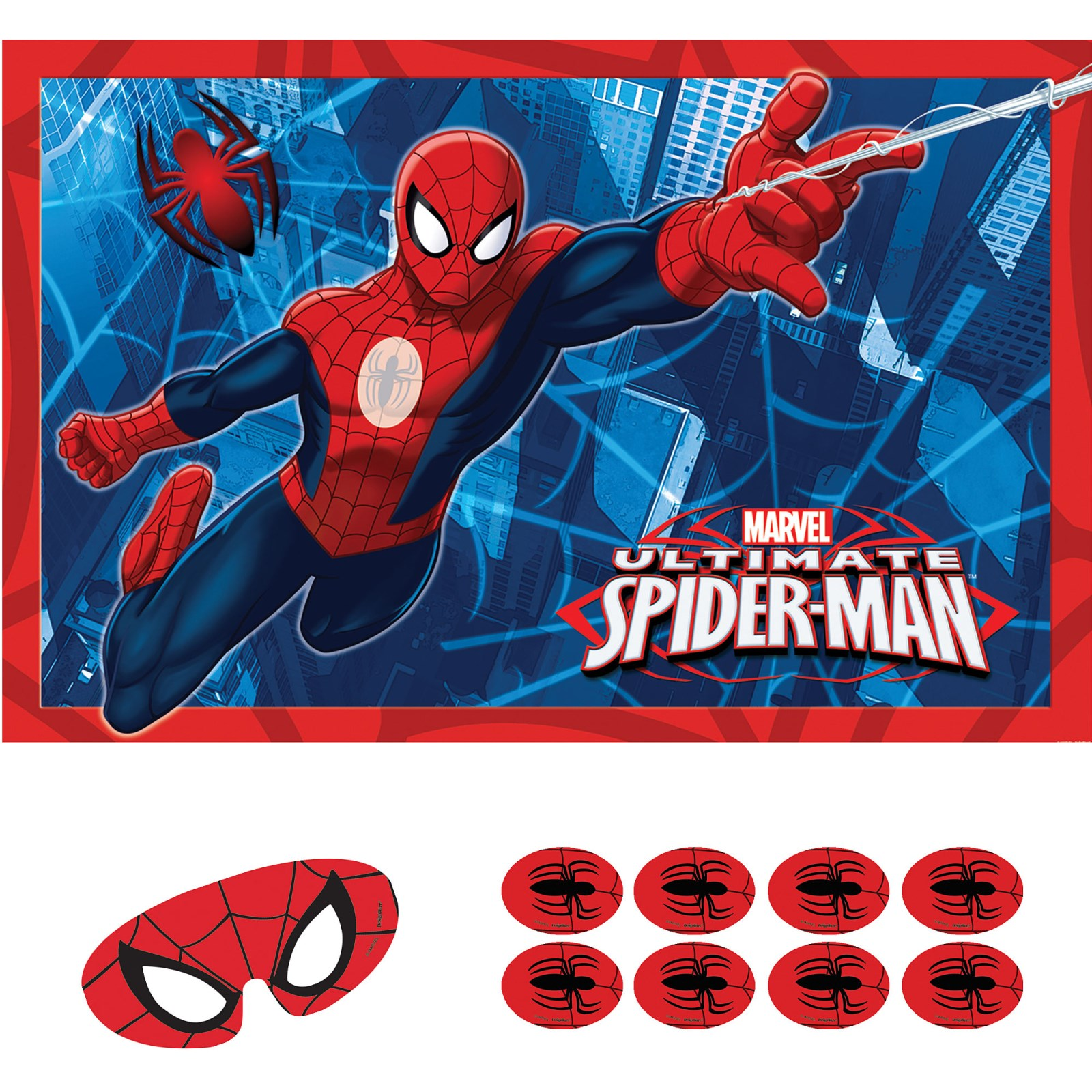 spiderman birthday poster ; spipag005