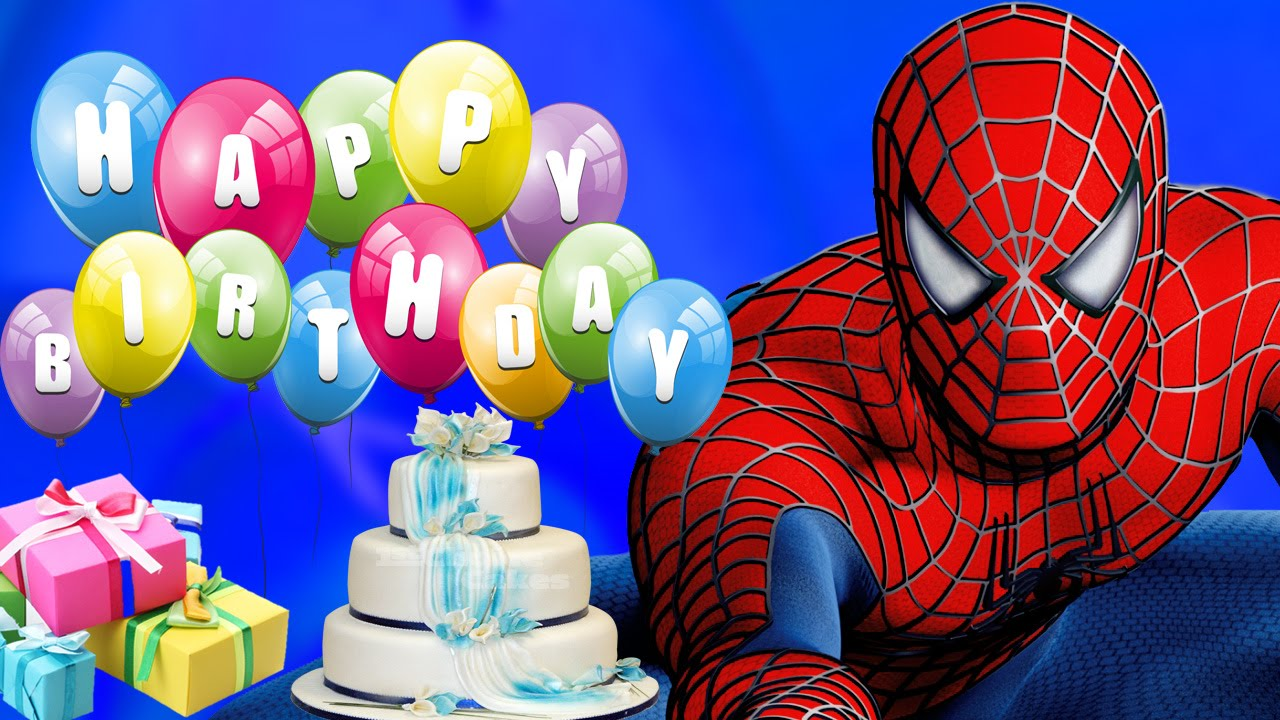 spiderman birthday wallpaper ; 28d62ff93b86f7c58195a5376c90a4c6