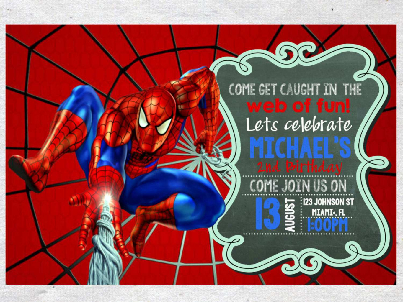 spiderman birthday wallpaper ; how-to-free-spiderman-birthday-invitations-qhd