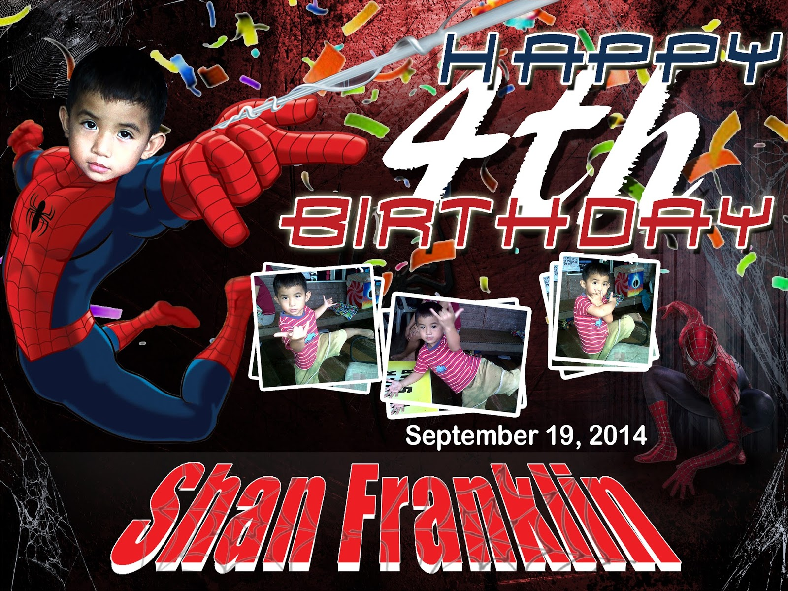 spiderman birthday wallpaper ; spiderman