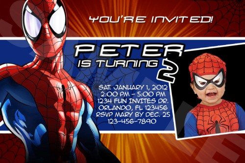 spiderman birthday wallpaper ; spiderman_super_hero_birthday_party_photo_invitations_-_printable_file_3734f462