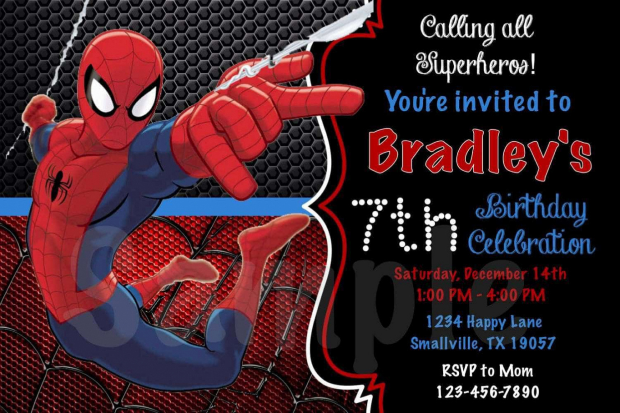 spiderman birthday wallpaper ; tips-easy-create-spiderman-birthday-invitations-unique