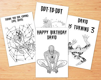 spiderman happy birthday coloring pages ; spiderman-birthday-coloring-pages-il-340x270