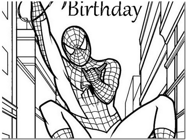 spiderman happy birthday coloring pages ; spiderman-birthday-coloring-pages-spiderman-happy-birthday-card-printable