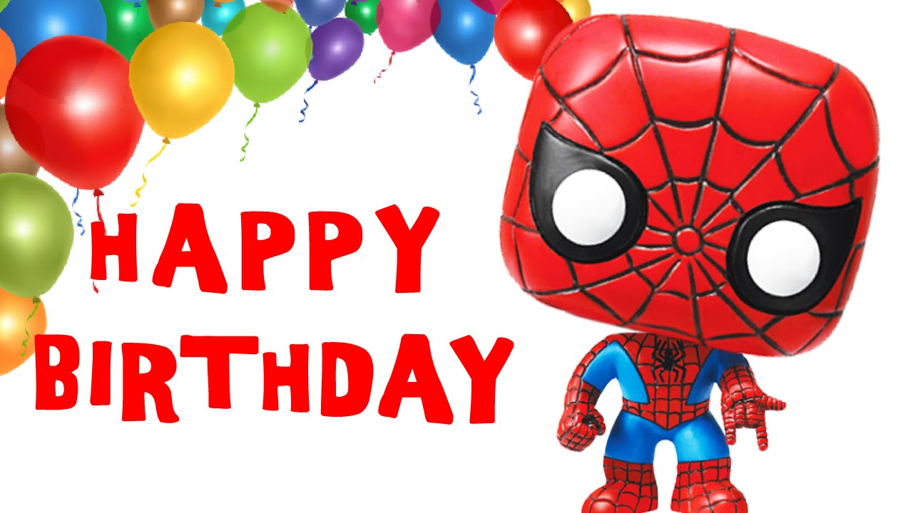 spiderman happy birthday sign ; maxresdefault