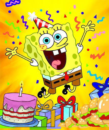 spongebob happy birthday ; CJ48WACWcAEEDqh