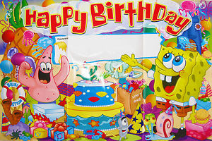 spongebob happy birthday ; s-l300