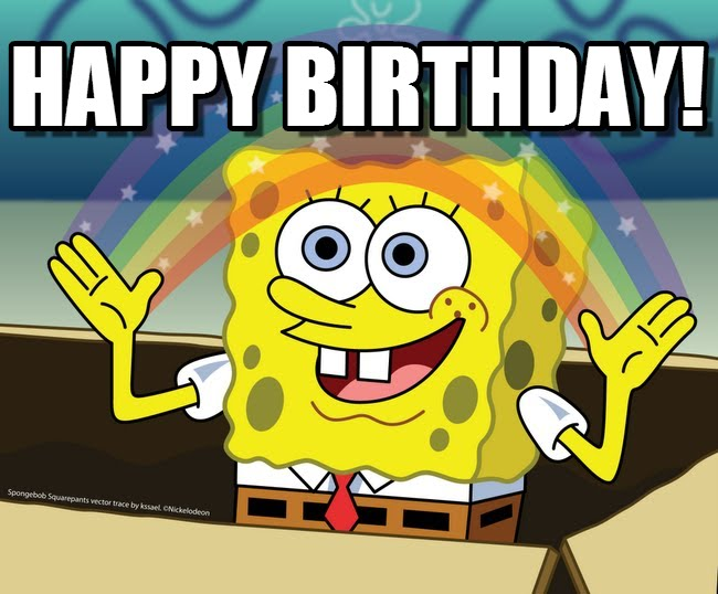 spongebob happy birthday ; t04yjo