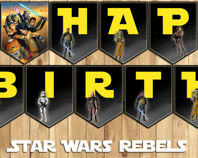 star wars birthday banner ; gallery_hero_il_fullxfull