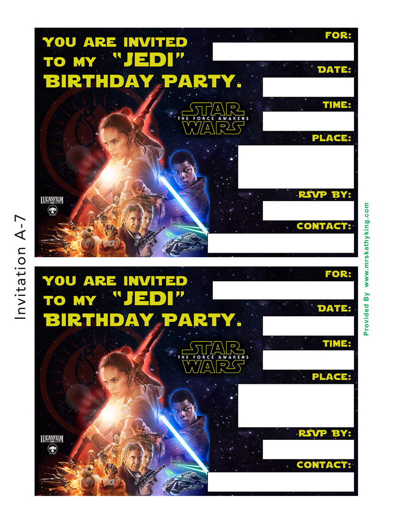 star wars birthday party invitations printable ; free_star_wars__the_force_awakens_printable_party_decoration_pack_0