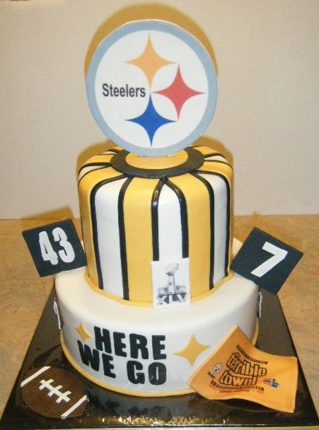 steelers happy birthday images ; Two+tier+Pittsburgh+Steelers+cake