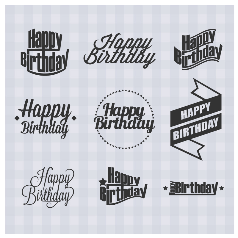sticker happy birthday free ; Happy-Birthday-Simple-Stickers-Vector