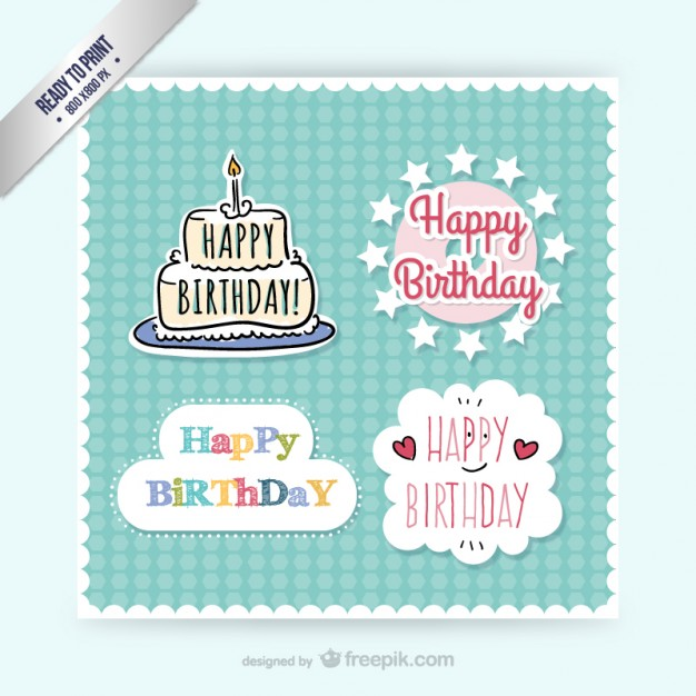 sticker happy birthday free ; cmyk-birthday-stickers_23-2147499820