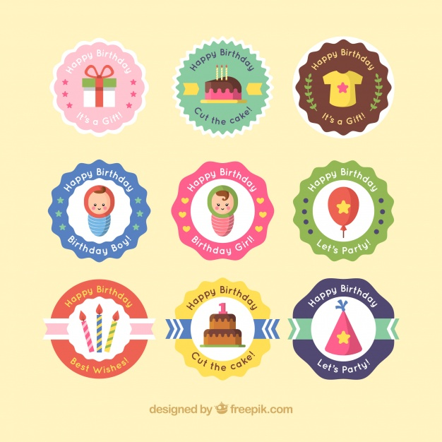 sticker happy birthday free ; collection-of-retro-happy-birthday-sticker_23-2147647544