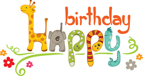 sticker happy birthday free ; creative_happy_birthday_design_elements_vector_art_523376