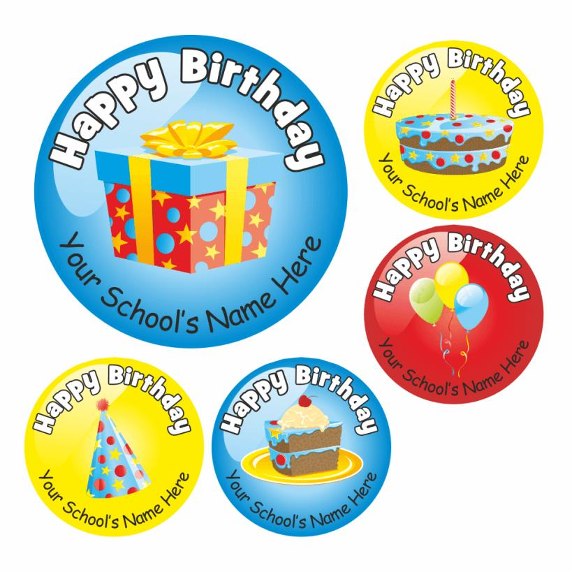 stickers de happy birthday ; 103696-00