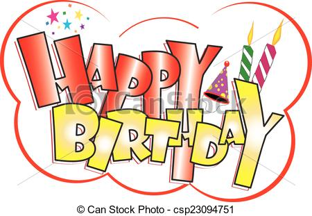 stickers de happy birthday ; happy-birthday-sticker-clipart-vector_csp23094751
