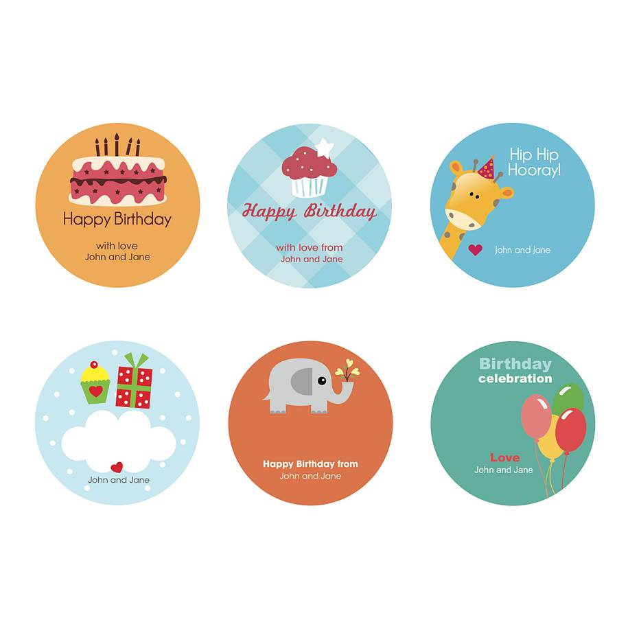 stickers for birthday presents ; original_Kids_Birthday