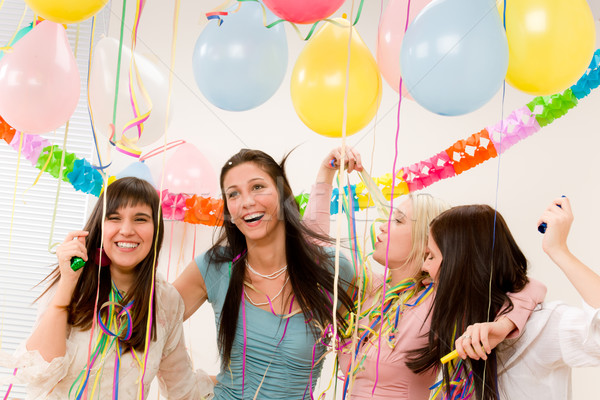 stock image birthday ; 782684_stock-photo-birthday-party-celebration---four-woman-with-confetti-have-fun