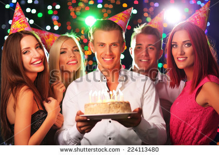 stock image birthday ; stock-photo-birthday-party-in-club-224113480