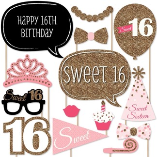 sweet 16 birthday picture ideas ; Sweet-16-Photo-Booth-Props