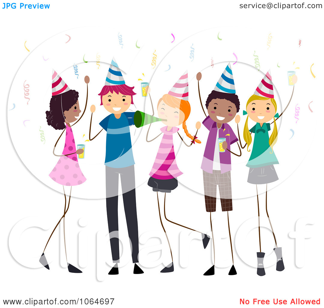 teenage birthday clipart ; teen-party-clipart-1