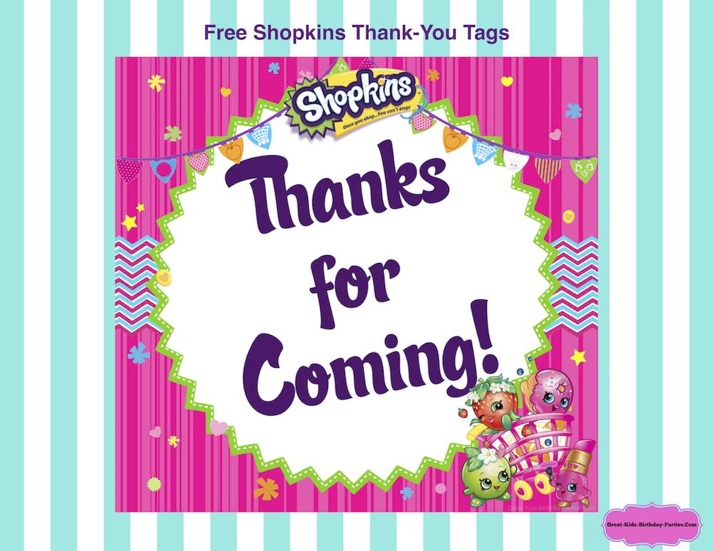 thank you for coming to my birthday tags ; free-Shopkins-thank-you-tags