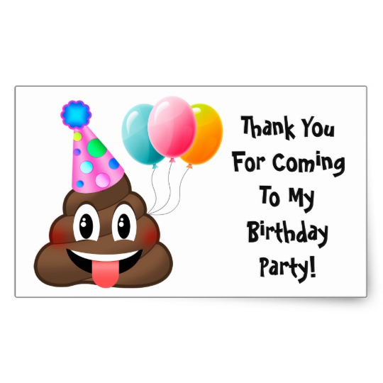 thank you stickers for birthday ; emoji_poop_birthday_party_thank_you_stickers-r435ca4bd9c9c4b14a723dfde92204d26_v9wxo_8byvr_540