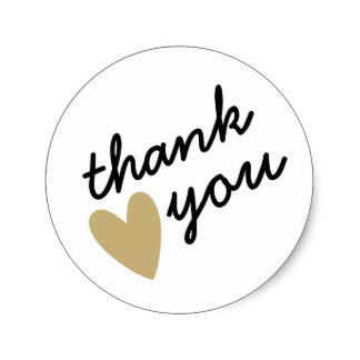 thank you stickers for birthday ; gold_heart_thank_you_classic_round_sticker-rb219a697733c4315af9a7e71b070d783_v9waf_8byvr_324