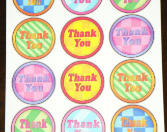 thank you stickers for birthday ; il_340x270