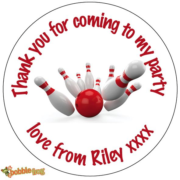 thank you stickers for birthday ; personalised-bowling-ball-birthday-party-bag-thank-you-sticker-ref-425-2265-p