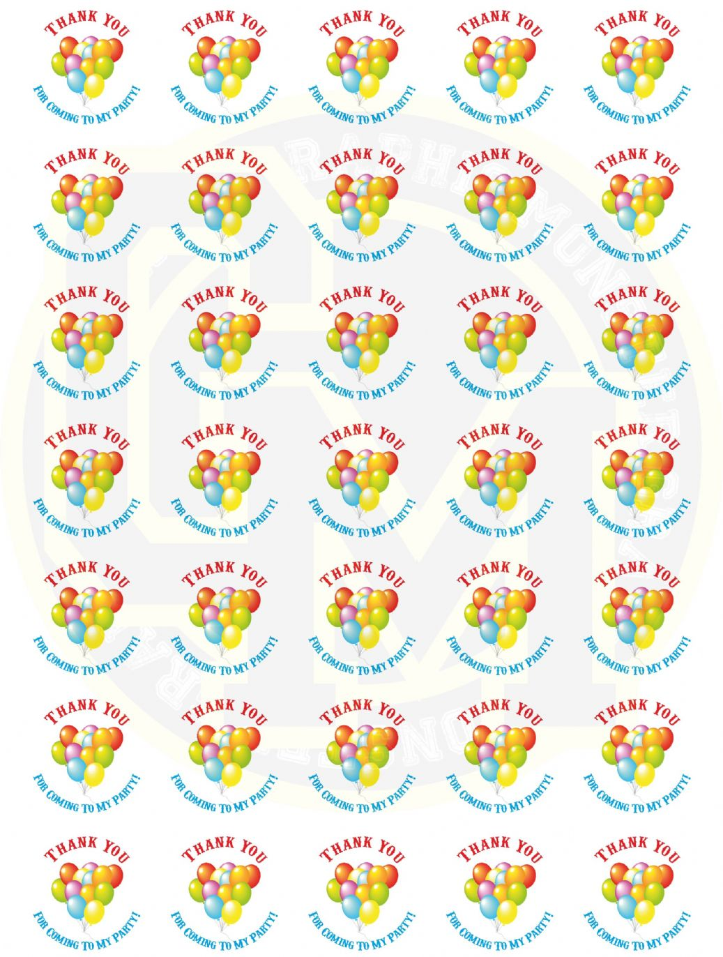 thank you stickers for birthday ; unisex-birthday-stickers-37mm-round-paper-thank-you-for-coming-to-my-party-3878-p