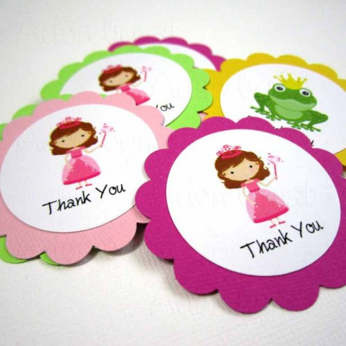 thank you tag for birthday ; princess_thank_you_tag_t012--_set_of_12_41274fef