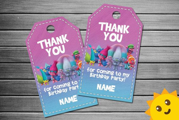 thank you tags for birthday favors ; 8b8908858ba4f10292f9ae822c4b0c29