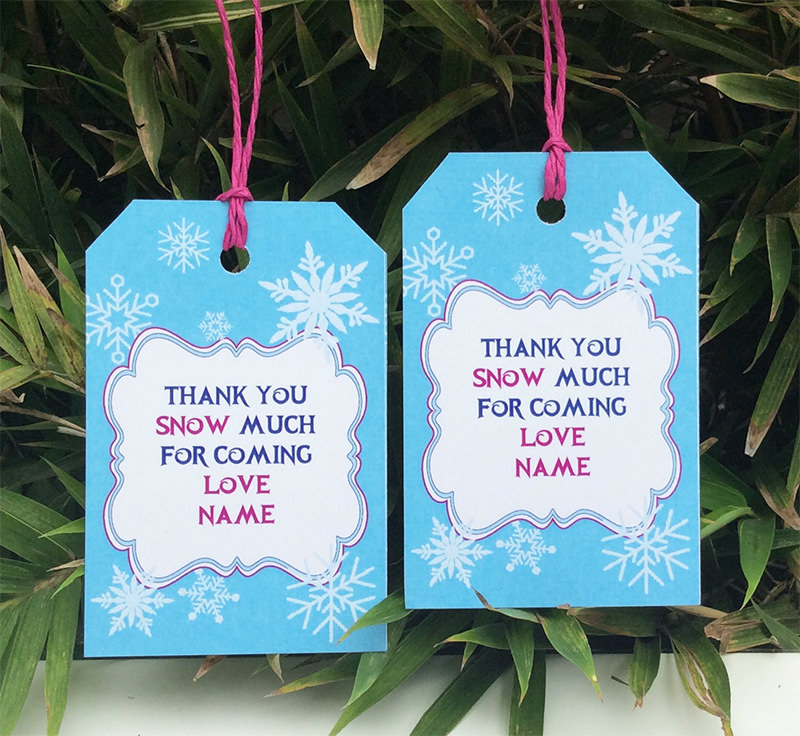 thank you tags for birthday favors ; Frozen-Birthday-Party-Thank-You-Tags