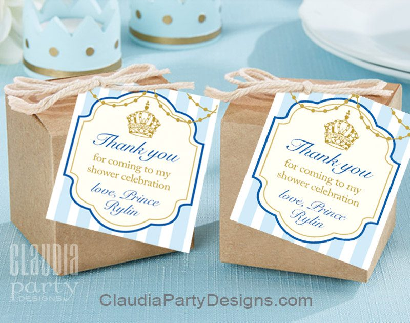 thank you tags for birthday favors ; royal-prince-thank-you-tags-800x630