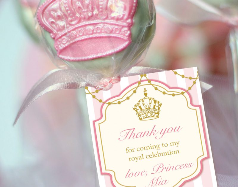 thank you tags for birthday favors ; royal-princess-thank-you-tagspink-gold-800x630