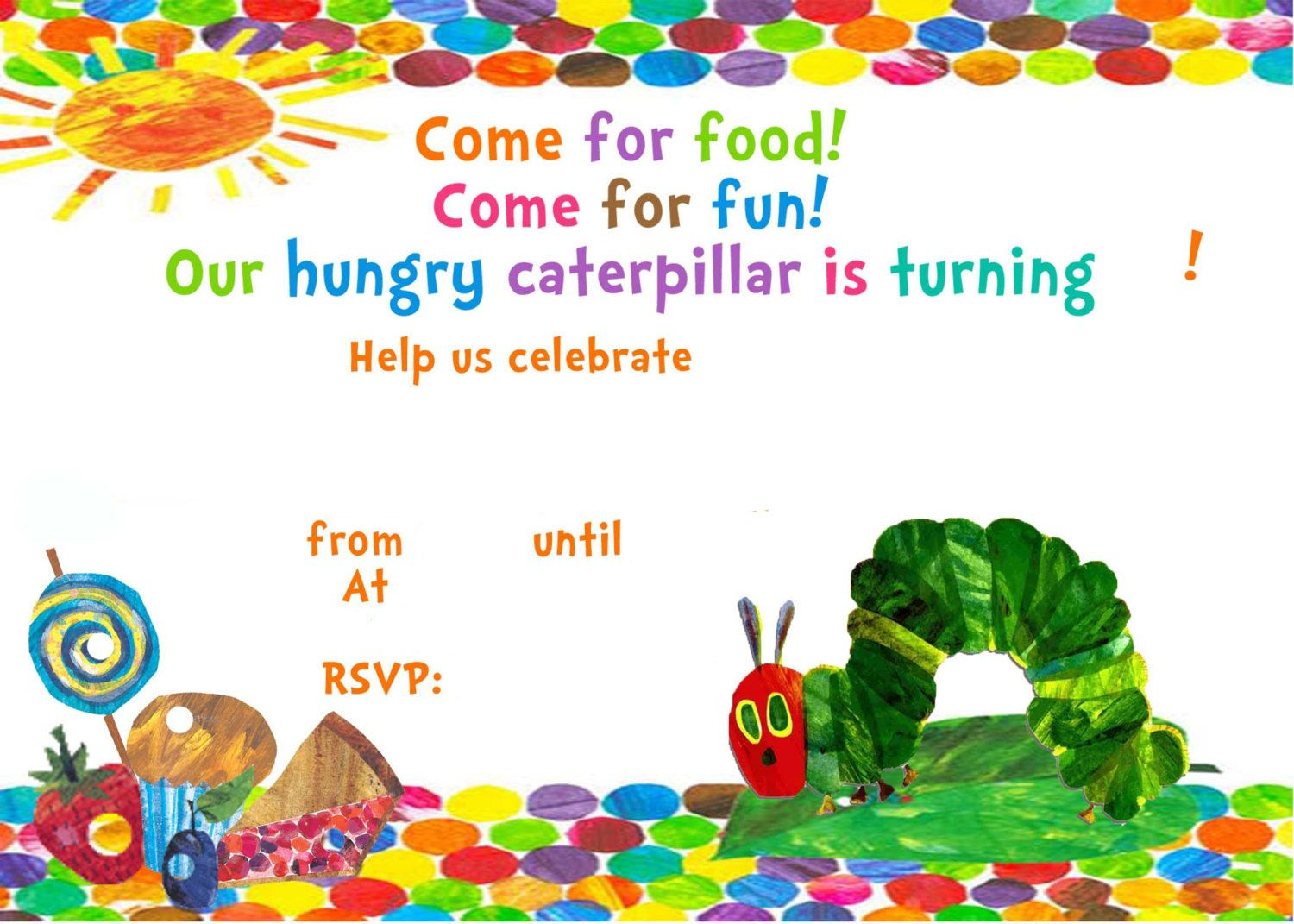 the very hungry caterpillar birthday invitation template ; d43f859792cd4ccfce8119affd58efe9