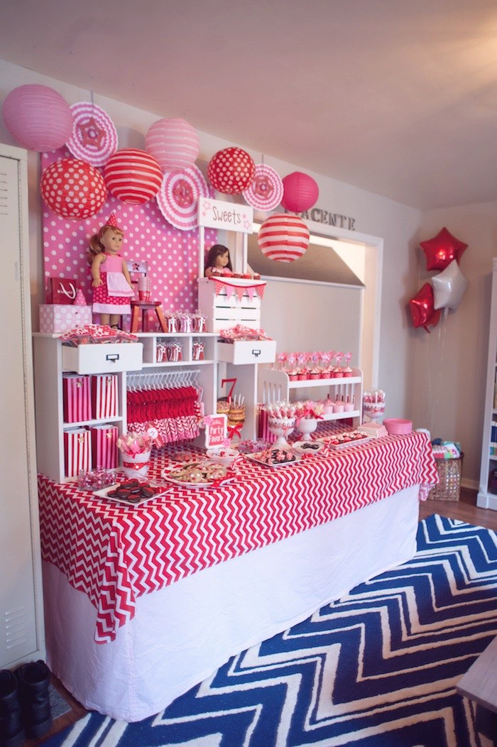 themed birthday party ideas for baby girl ; American-Girl-Doll-Themed-Birthday-Party-via-Karas-Party-Ideas-KarasPartyIdeas