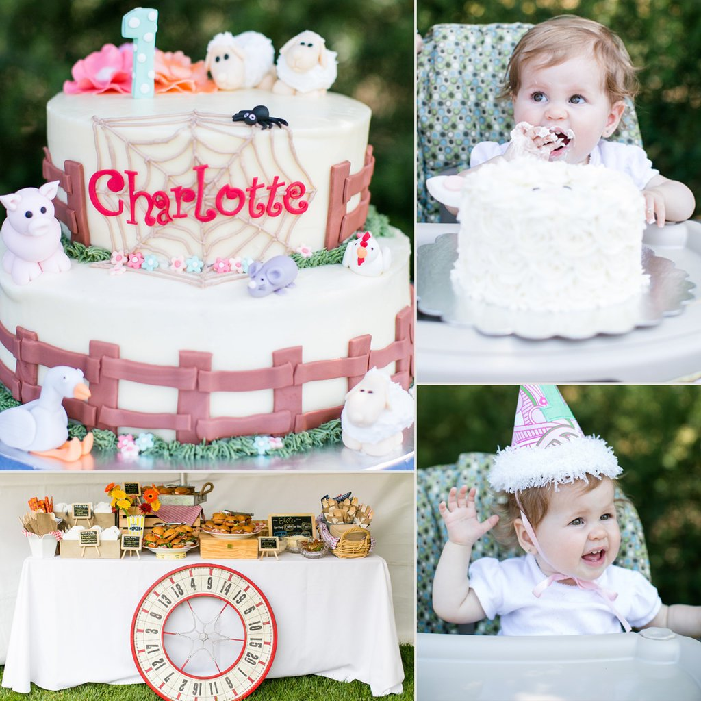 themed birthday party ideas for baby girl ; Charlotte-Web