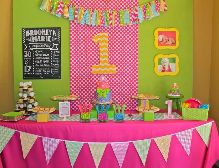 themed birthday party ideas for baby girl ; polka-dots-2
