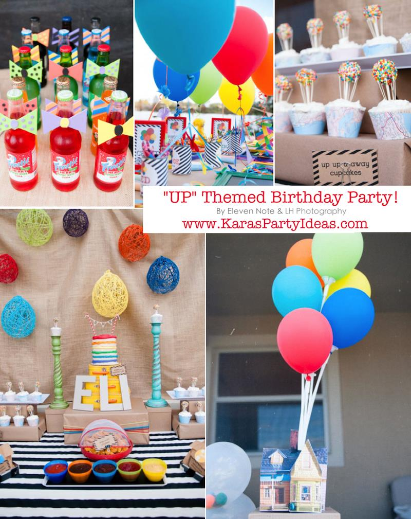 themed birthday party supplies ; Disneys-UP-themed-birthday-party-via-Karas-Party-Ideas-KarasPartyIdeas